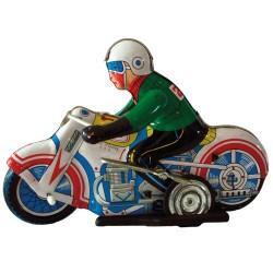 Oude speelgoed motorfiets