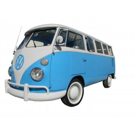 Blauwe VW transporter
