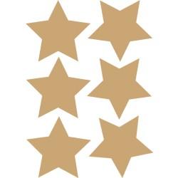 A4 met 6 gouden sterren