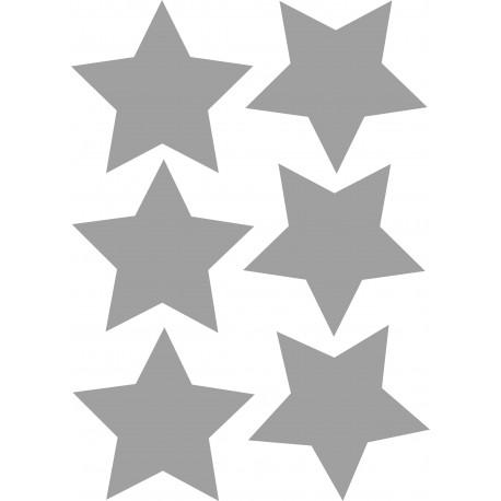 A4 met 6 zilveren sterren